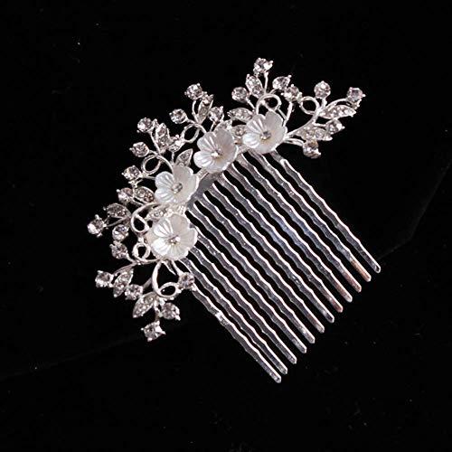 WOHAO Brossettes Belle Robe de mariée Accessoires Peigne Nuptiale Cheveux Pince à Cheveux Pins for Les Femmes Bijoux en Perles mariée Coiffe Taille F-4