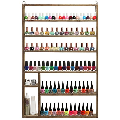 My Gift Vintage Salon Wall Wood Nail Polish Rack