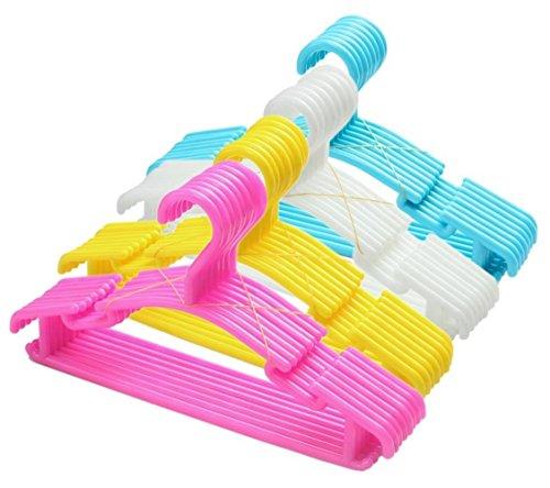 Tebery perchas infantiles 40 unidades, color: azul/rosa/blanco/Amarillo