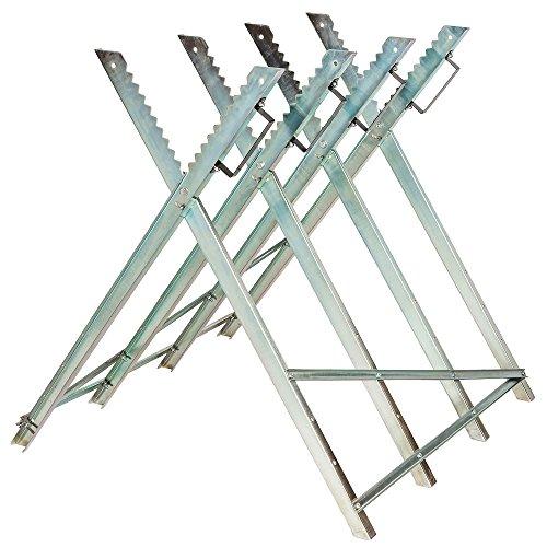 TecTake Caballete para sierra eléctrica Hendidora de madera Soporte serrar leña - varios modelos - (No. 401165 | 84x80x80cm)