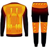HYISHION Beheizte Thermo-Unterwäsche Winter Warm, USB-Elektrische Erhitzte Thermal Langarm-T-Shirts...