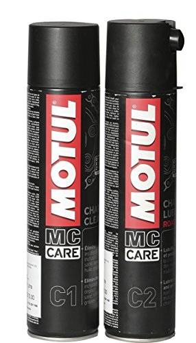 Motul Combo of C2 Chain Lube (400 ml) and C1 Chain Clean for All Bikes (400 ml)
