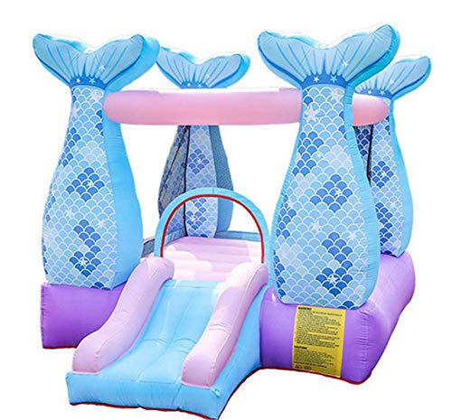 Inflatable Castle Indoor Outdoor Jumping Bed Slide Trampoline Children'S Amusement Park Naughty Large Slides Toys Suitable For 5~8 People, 280X215X195Cm
