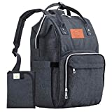 Diaper Bag Backpack - Large Waterproof Travel Baby Bags (Mystic Gray)