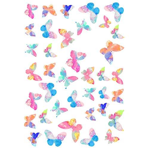 Hosaire 6 Piezas Mariposa de Colores Pegatina Diario Pegatinas DIY Decoraci/ón Memo Scrapbooking Notebook Hacer Regalo Decoraci/ón para Tel/éfono M/óvil Etiqueta del /álbum Size 8x16cm