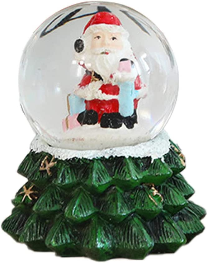 Holibanna Christmas Snow Globe Box Special Campaign Santa Brand new Music Resin