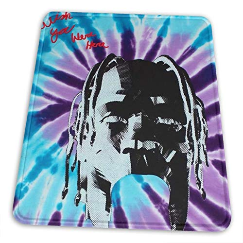 Travis-Scott-Astroworld Premium Rectangle Mouse Pad Non-Slip Rubber Gaming Mouse Pad for Laptop Computer & Pc