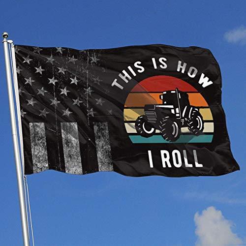 AOTADer Banderas al Aire Libre Bandera de EE. UU. Gastada Así es como ruedo la Bandera del Agricultor para fanáticos de los Deportes Fútbol Baloncesto Béisbol Hockey