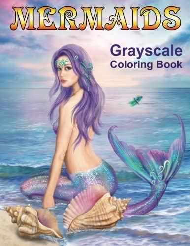 Mermaids Grayscale Coloring book Coloring Books for Adults product image