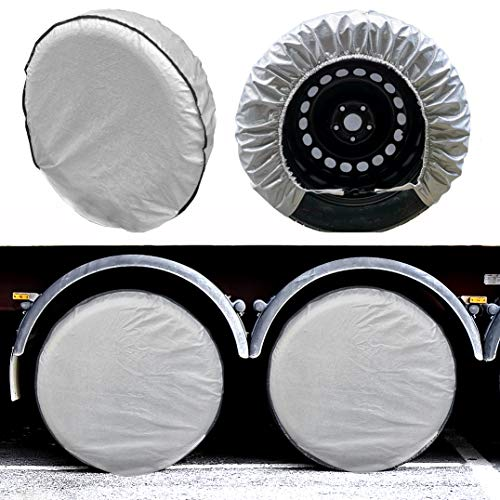SEAZEN Tire Covers Set of 4, 5 Layer Wheel Covers for RV Trailer Camper Truck Motorhome...