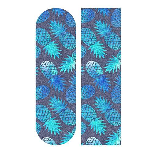 Skateboard Griptape Blatt 83 x 22,9 cm – Vintage blaues Ananas Schleifpapier für Rollerboard Longboard Griptape blasenfreies Griptape für Skateboard