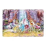 Mural de pared Mia and Me - Mia y Onchao con los unicornios de Centopia, Dimensiones: 144 x 216 cm