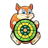 Delisouls Juego de tablero de dardos, juego de bolas adhesivas, lindo juego de tablero de dardos de seguridad de dibujos animados, juegos de fiesta para niños y niñas en interiores y exteriores