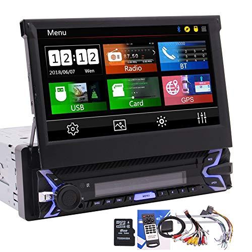 EINCAR DIN Sola Receptor estéreo Bluetooth Radio de Coche de navegación GPS en el Tablero de 7 Pulgadas de Pantalla táctil Unidad Auto Audio Cabeza de vídeo Digital Media Player SWC/USB/SD/FM/Am /