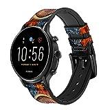 Innovedesire Roulette Casino Gamble Cinturino in Pelle e Silicone Smartwatch per Fossil Wristwatch Taglia (20mm)