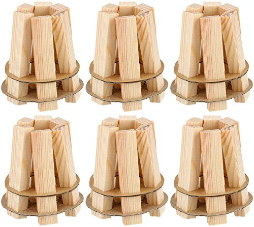 COM-FOUR® 6x aansteker- en grillaansteker van hout - ecologische en geurloze aansteker voor open haarden - snel, gemakkelijk en effectief