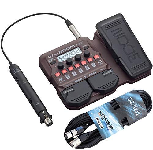 Zoom A1X Four Effektgerät für akustische Instrumente + keepdrum XLR-Kabel 6m