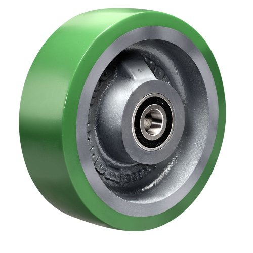 Hamilton W-620-DB-1/2 Duralast Polyurethane (95A) on Cast Iron Wheel with Sealed Precision Ball Bearing, 6' Diameter x 2' Width, 1,200 lb. Capacity