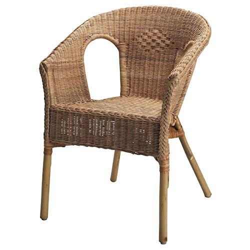 UK Bargain Seller AGEN krzesło, rattan, bambus, 58 x 56 x 79 cm wytrzymałe i łatwe w pielęgnacji. Fotele rattanowe. Fotele i szezlongi. Sofy i fotele. Meble przyjazne dla środowiska.