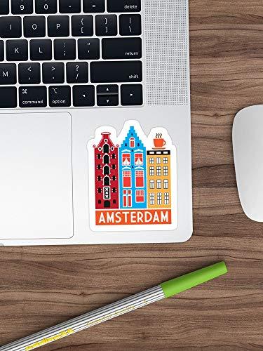 Amsterdam! Stickers Window Vinyl Sticker voor auto's, vrachtwagens, ramen, muren, laptops (langste zijde 3
