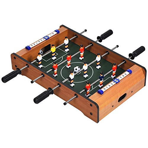 Giantex 20in Foosball Table, Mini Foosball Table Top w/Score Keepers, 2 Balls, Soccer Table Game for Kids, Football Table for Family Game Night, Game Room, Bars, Parties