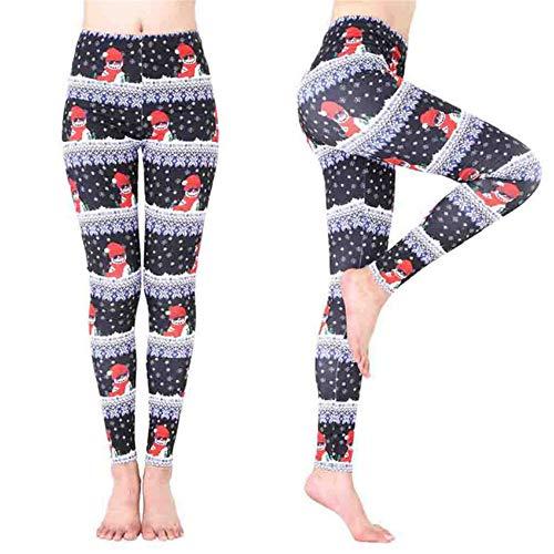 Shuangklei Kerstmis Sneeuwman Gedrukt Yoga Broek Leggings Vrouwen Kerstman Sport Gym Yoga Hardlopen Fitness Leggings Broek Atletische Trouse