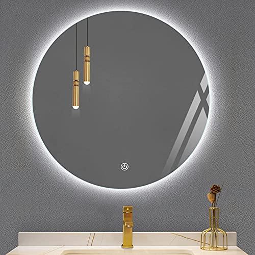 LZQHGJ YAWEN DIRIGIÓ Espejo de baño retroiluminado, Montaje en Pared Iluminado Espejo de vanidad a Prueba de explosiones IP66 Impermeable, luz cálida/luz Blanca.