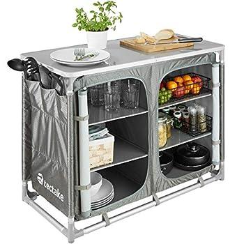 TecTake 800585 Cuisine de Camping Meuble de Jardin - Divers modèles - (Type 5 | n° 402923)