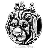 Leone, ciondolo portafortuna in argento Sterling 925, per braccialetti Pandora A