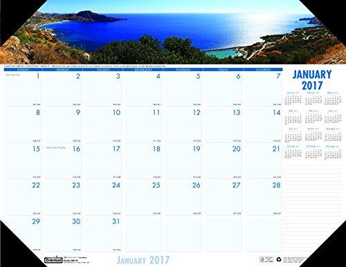 "House of Doolittle 2017 Monthly Desk Pad Calendar, Earthscapes Coastlines, 22 x 17"" (HOD178-17)"