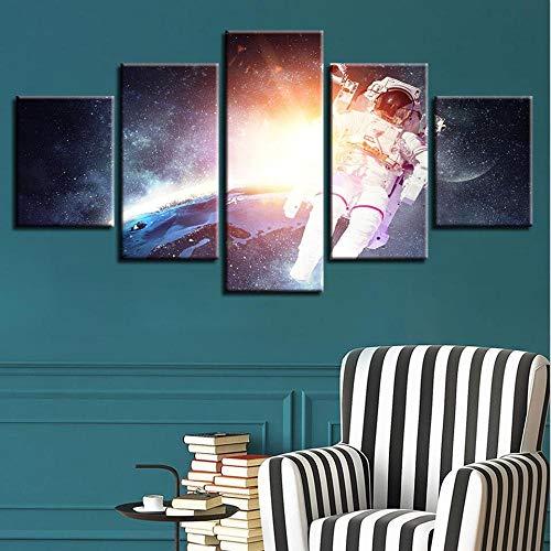 QianLei HD Creative Printed Canvas 5 stuks gitaar muurkunst afbeelding voor de woonkamer 40x60 40x80 40x100cm geen lijst