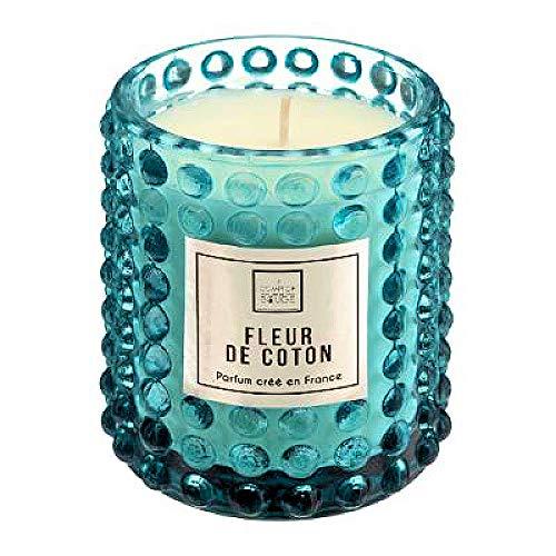 Boho Medium Blue - Vela de estilo bohemio en tarro de cristal vintage - Velas perfumadas con perfume francés con un bonito perfume fino, perfecto para la decoración de la habitación, estilo bohemio
