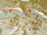 Such Textiles Gold Chinesischer Drache Brokat Stoff (Pro