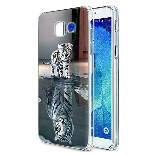 Zhuofan Plus Samsung Galaxy A3 2017 Hülle, Silikon Transparent Schutzhülle mit Muster Motiv Handyhülle Weiche TPU 360 Kratzfest Durchsichtige Case Cover für Samsung A3 2017 4,7