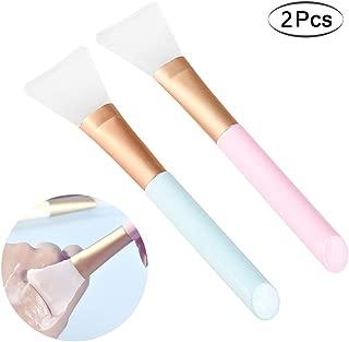 Silicone Brush Face Mask Brush 2 Pcs Facial Mask Applicator Brush Mask Beauty Tool Facial Mud Mask Brush Hairless Cosmetic Makeup Brush Body Lotion And Body Butter Applicator Tools (2 pcs)