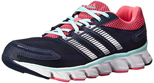adidas Performance Women's Powerblaze W Running Shoe, Collegiate Navy/Metallic/Silver/Neon Pink, 11 M US