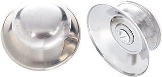 Perilla de cubierta de olla - SODIAL(R) Universal Reemplazo Perilla de cubierta tapa de vidrio de olla utensilios de cocina 2pzs