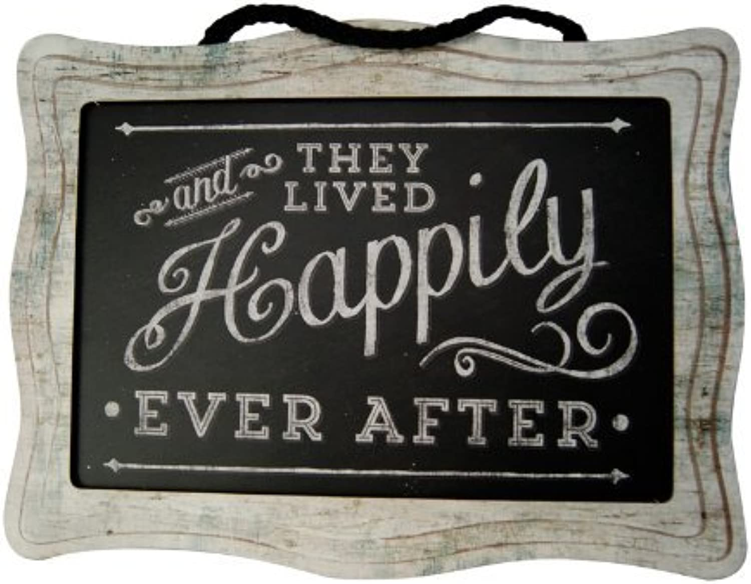 Highland Graphics Decorative Wooden Chalkboard Style Sign  They Lived Happily Ever After