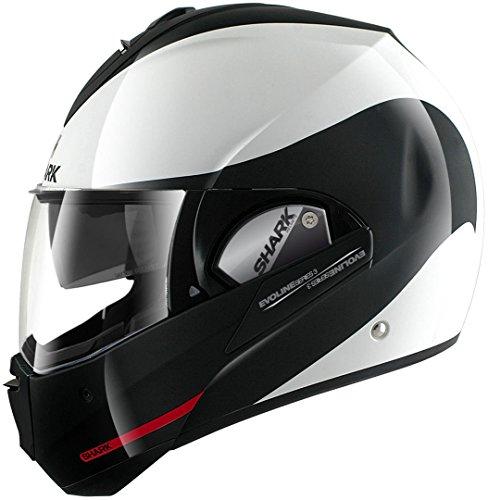 Shark he9352ewkrm Motorradhelme Evoline Serie 3Hakka WKR, schwarz/weiß/rot, Größe M