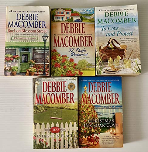 5 books 1) Back on Blossom Street 2) 92 Pacific Boulevard 3) To Love and Protect 4) 1022 Evergreen Place 5) Christmas in Cedar Cove