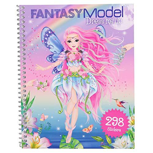 Depesche 10955 Malbuch mit Stickern, Fantasy Model Dress me up, ca. 20 x 16 x 1 cm