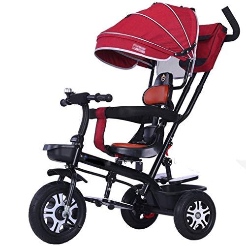 Jiji Sillas de Paseo El Triciclo Ajustable del Triciclo de los niños con el Carro del Cochecito del Bolso de la Momia del toldo Conveniente for 1~6 años Cochecito de bebé (Color : G)