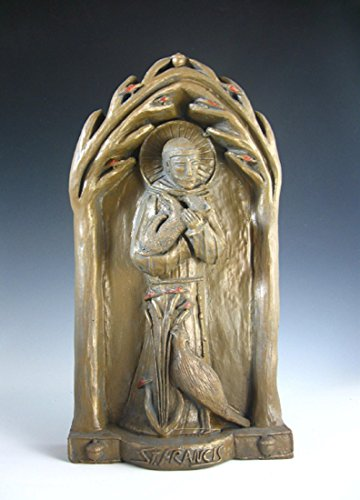 St Francis, Patron of Nature: Handmade Statue/Plaque
