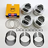 NPR Piston Kit with Rings compatible with 1985 to 1995 Toyota 2.4L 22R, 22RE and 22REC Engines