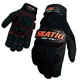 Mechanic Gloves men multi functional gloves Automotive gloves utility gloves impact protection anti vibration double palm SIZE M