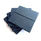 Almohadillas para muebles de primera calidad, almohadillas gruesas antideslizantes para los pies Pinza para muebles propios - Topes deslizantes - Almohadillas adhesivas (40X80MM 8PCS)
