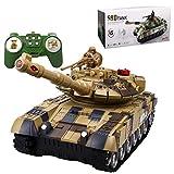 YOUX Tanque teledirigido multifuncional 2.4G Battle 59D con efectos de luz y sonido, recargable.