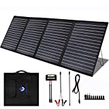 MEGSUN 200 Watt 18V Portable Foldable Solar Panel Charger Kit for 200/300/500/1000W Power Station, with 20A 12V/24V Controller for...