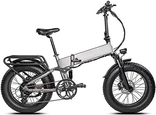 Bicicleta Eléctrica 20 pulgadas 500W Plegable Bicicleta eléctrica Control de crucero 48V 11.6Ah Motor sin escobillas Motor extraíble Batería de litio de 8 velocidades Bicicleta de recuperación de ener