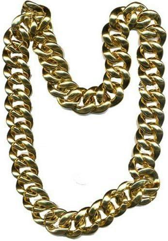 Gold Chain Plastic Pimp Necklace Mr. T Thick 36